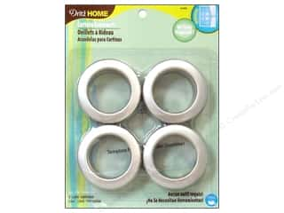 dritz curtain grommets: Dritz Home Curtain Grommets 1 9/16 in. Brushed Silver