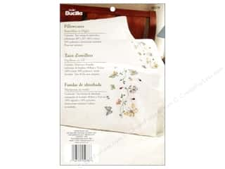 Yarn & Needlework: Bucilla Embroidery Pillowcases Butterflies/Flight
