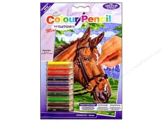 Kids Crafts Blue: Royal Colour Pencil by Number Mini Horse