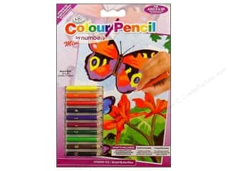 Pencils Projects & Kits: Royal Colour Pencil by Number Mini Butterflies