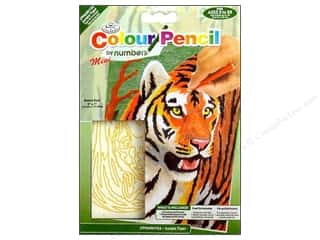 Pencils Projects & Kits: Royal Colour Pencil by Number Mini Jungle Tiger
