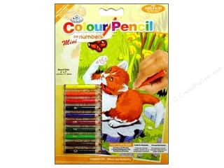 Royal Rub Ons Royal Colour Pencil by Number: Royal Colour Pencil by Number Mini Kitten/Butterfly