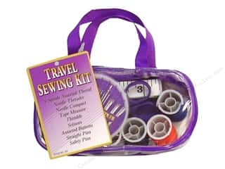 Allary Sewing Kit Travel Purple/Clear Case