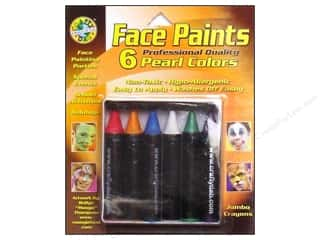 Dab'N Stic Glue Blue: Crafty Dab Face Paint Jumbo Crayon Set Pearl