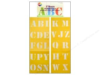 Shabby Fabrics ABC & 123: Delta Alphabet Stencil Mania 2 in. Super Value Basic