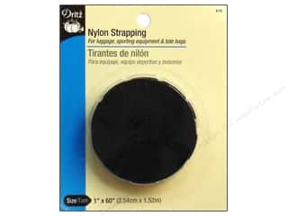 "Dritz Nylon Strapping 1""x 60"" Black"