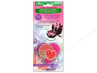 Sewing Construction Valentine's Day Gifts: Clover Quick Yo-Yo Maker Heart 1 x 1 1/4 in. Small
