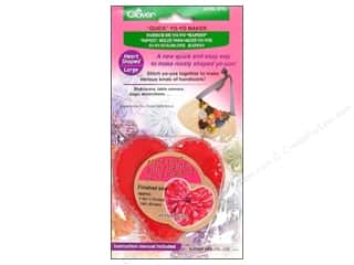 Sewing Construction Valentine's Day Gifts: Clover Quick Yo-Yo Maker Heart 1 5/8 x 1 3/4 in. Large