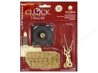 Clockmaking Crafting Kits: Walnut Hollow Clock Kit 3/4 in. 3 pc