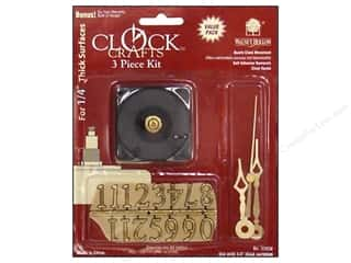 Clock Making Supplies Scrapbooking: Walnut Hollow Clock Kit 1/4 in. 3 pc