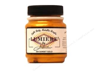acrylic paint: Jacquard Lumiere Paint 2.25 oz Sunset Gold
