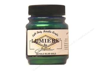 acrylic paint: Jacquard Lumiere Paint 2.25 oz. Halo Blue Gold