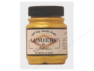 Jacquard Jacquard Lumiere Paint 2.25 oz: Jacquard Lumiere Paint 2.25 oz. #561 Metallic Gold