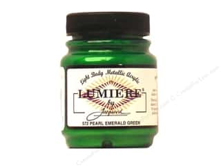 acrylic paint: Jacquard Lumiere Paint 2.25 oz. Pearl Emerald