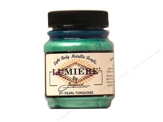 Quilt Stencil  Background: Jacquard Lumiere Paint 2.25 oz. #571 Pearl Turquoise