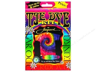 Fabric Painting & Dying Crafting Kits: Jacquard Tie Dye Kit Funky-Groovy