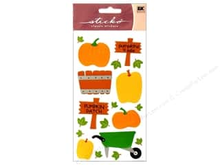Paper Mache Fall / Thanksgiving: EK Sticko Stickers Pumpkin Patch