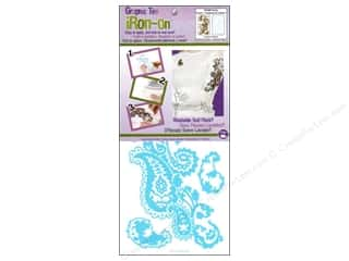 Iron On Graphic Paisley by Dritz Brown/Light Blue