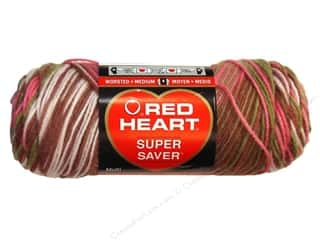 Red Heart Super Saver Yarn Pink Camo 5 oz.