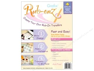 "Rub-Ons 5"": Grafix Rub Onz Film Sheet 8.5""x 11"" Ink Jet/Laser 4pc"