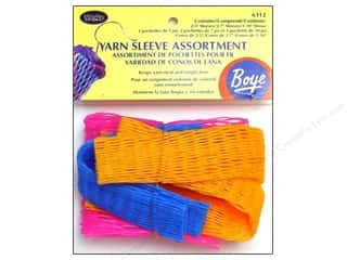 Yarn & Needlework: Boye Yarn Sleeves Assorted 5 pc.