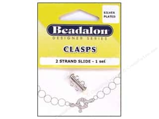 Beadalon Side Clasps 2 Strand 16.6mm Silver