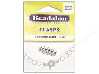 Beadalon 3 Strand Side Clasps 21.4 mm Silver Plated