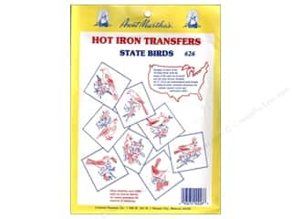 Transfers Hot: Aunt Martha's Hot Iron Transfers #626 State Birds Collection