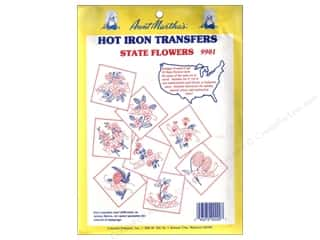 Transfers Aunt Martha's Hot Iron Transfers Blue: Aunt Martha's Hot Iron Transfer #9901 State Flowers Collection