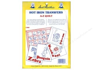 Yarn & Needlework: Aunt Martha's Hot Iron Transfers #C800 ABC Quilt