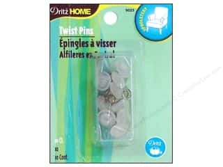 metric pins: Dritz Home Pins Twist Clear 10 pc