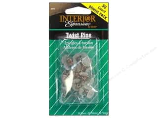 metric pins: Dritz Home Pins Twist Clear 30 pc