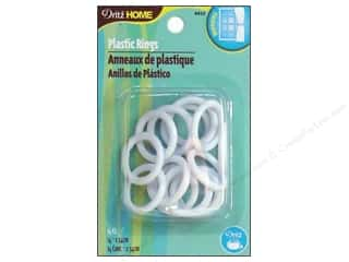 Plastics: Plastic Rings by Dritz Home 1 in. 14pc.