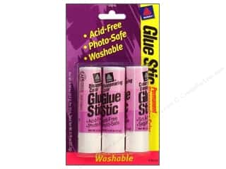 Avery Dennison Glues/Adhesives: Avery Glue Stick .26 oz. 3 pc. Disappearing Color Permanent