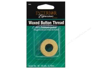 Dritz Notions: Dritz Home Waxed Button Thread Natural 20 yd