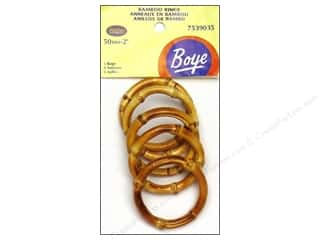 Boye Accessories Bamboo Rings 5pc