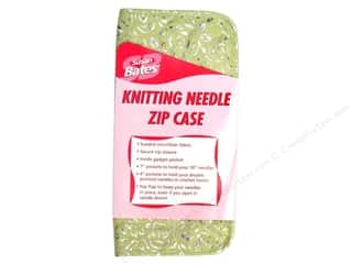 "Bates Suede Microfiber Zip Case 10"" Knit Needle"
