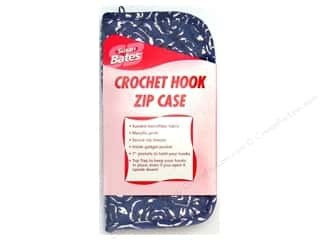 Bates Suede Microfiber Zip Case Crochet Hook