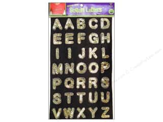 Dritz Iron On Fashion Sequin Letters Gold