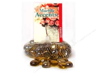 "Floral Arranging 12"": Panacea Glass Gems 12 oz. Lustre Amber"