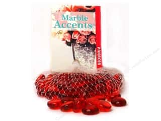 Panacea Decorative Accents Glass Gems Red 10oz