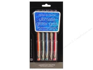 American Crafts Ultmt Glitter Gel Pen St # 2 5pc