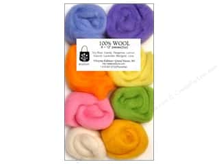 Wistyria Editions 100% Wool Roving 8pc CottonCandy