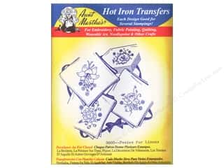 Aunt Martha&#39;s Hot Transfer Blue Posies for Linens