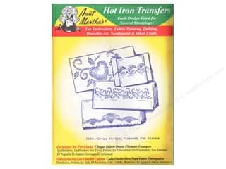 Aunt Martha Aunt Martha's Hot Iron Transfers Green: Aunt Martha's Hot Iron Transfer #3660 Green Hearts and Flowers for Linens