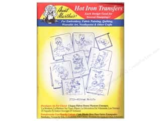 Hemming Aunt Martha's Towels: Aunt Martha's Hot Iron Transfer #3733 Red Kitten Motifs