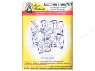 Irons: Aunt Martha's Hot Transfer White Baby Animals