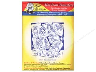 Blueberry Backroads Needlework Patterns: Aunt Martha's Hot Iron Transfer #3749 Red Fanciful Fruit