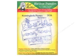 Aunt Martha Aunt Martha's Hot Iron Transfers Green: Aunt Martha's Hot Iron Transfer #3836 Green Hummingbirds and Flowers for Linens