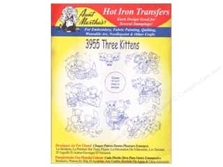 Clearance Blumenthal Favorite Findings: Aunt Martha's Hot Iron Transfer #3955 Three Kittens